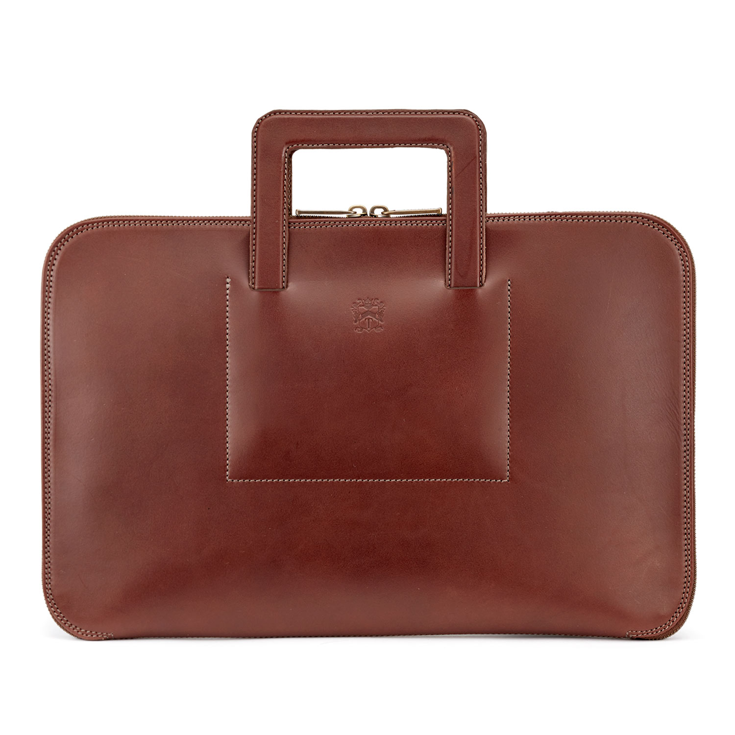 Tusting Westminster Folio Brief in Chestnut Bridle Leather