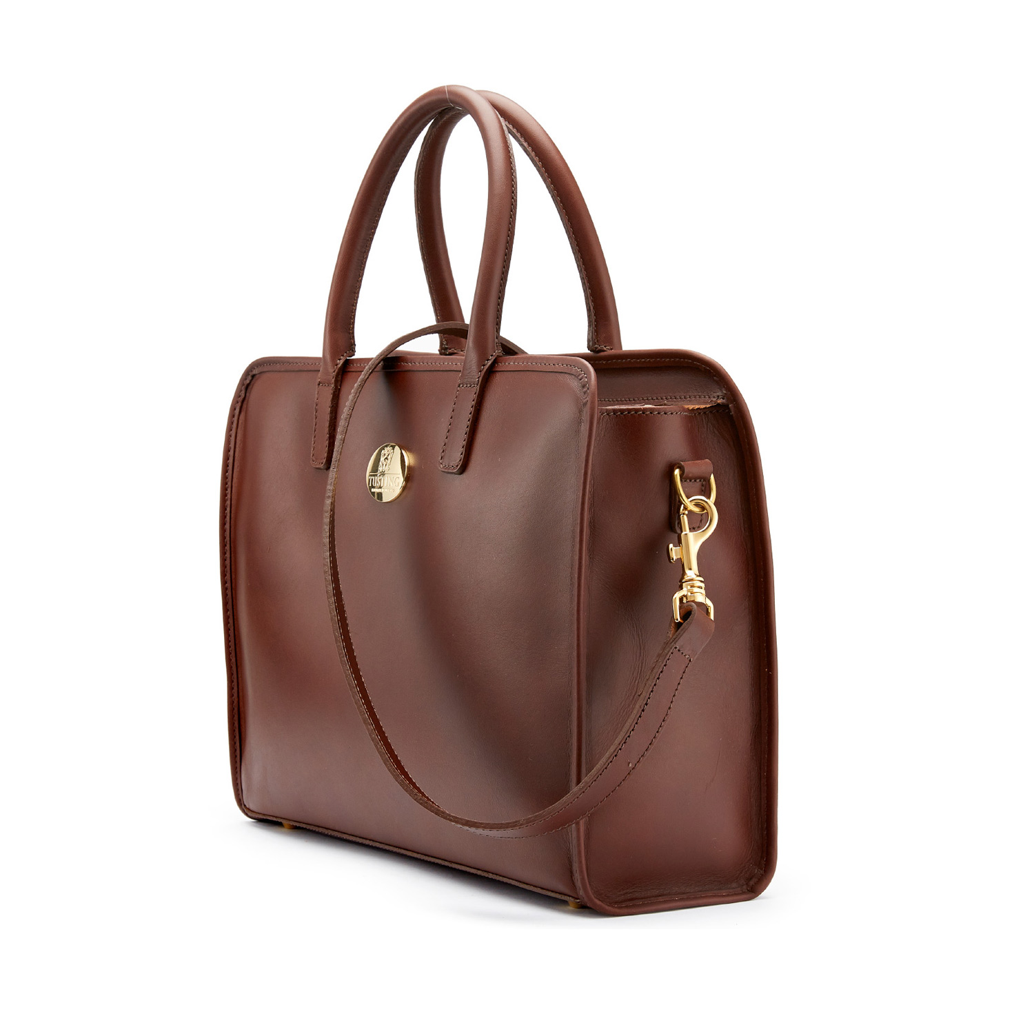 Tusting Catherine Handbag in Chestnut Leather