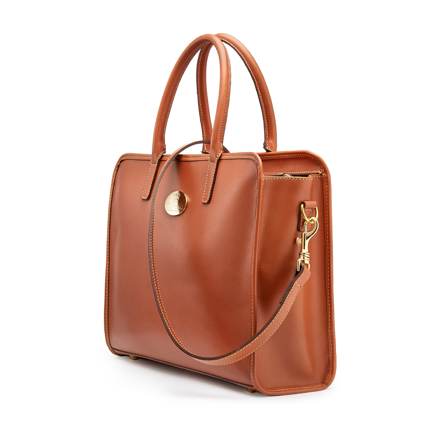 Tusting Catherine Handbag in Tan Leather