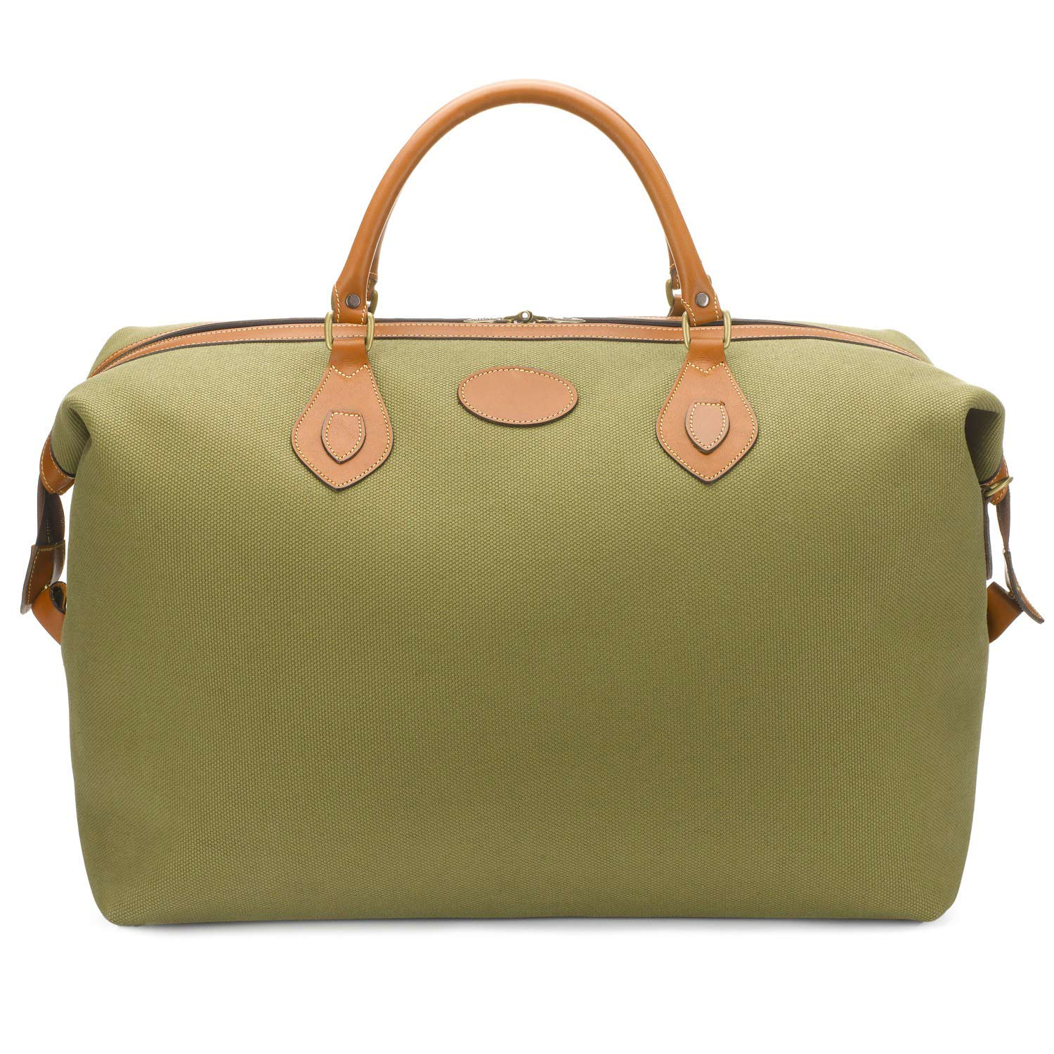 Tusting Explorer Holdall (Large) in Olive Canvas and Tan Trim Leather