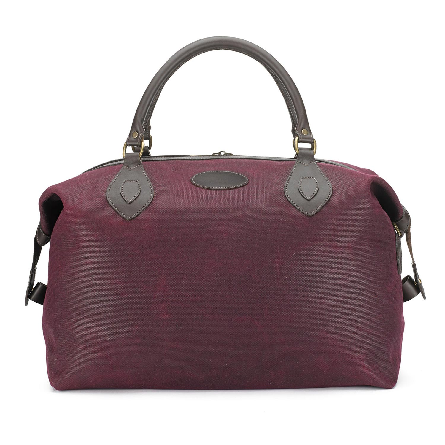 Tusting Medium Sized Claret Driwax Canvas and Leather Explorer Holdall