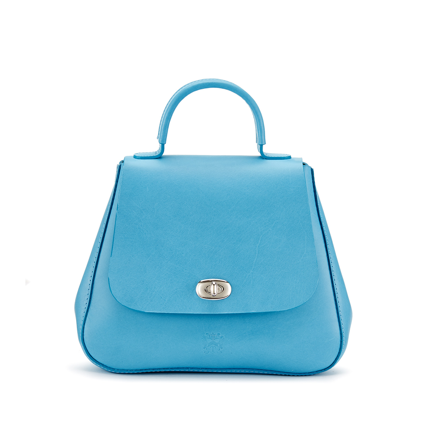 Tusting Holly Leather Top-Handled Handbag in Laguna Blue
