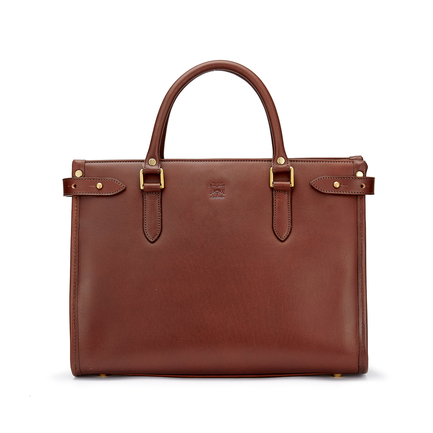Tusting Kimbolton Leather Tote (small) in Chestnut Bridle Leather