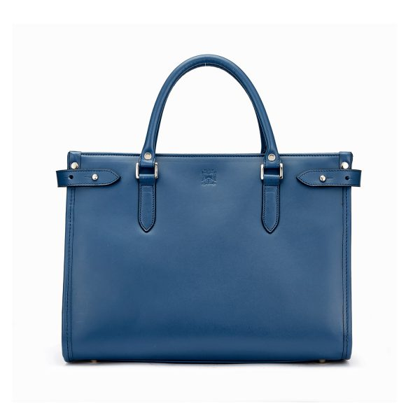 Tusting Kimbolton Small in Marine Blue Leather