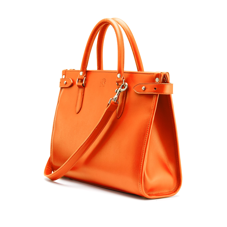 Tusting Kimbolton Leather Handbag (small) in Orange