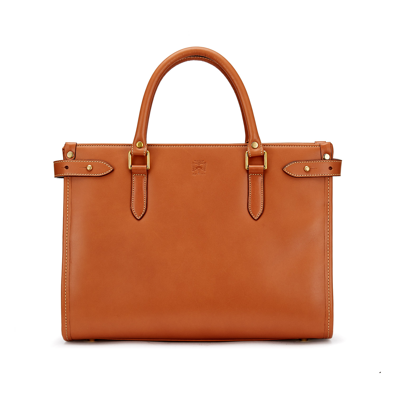 Tusting Kimbolton Leather Handbag (small) in Tan