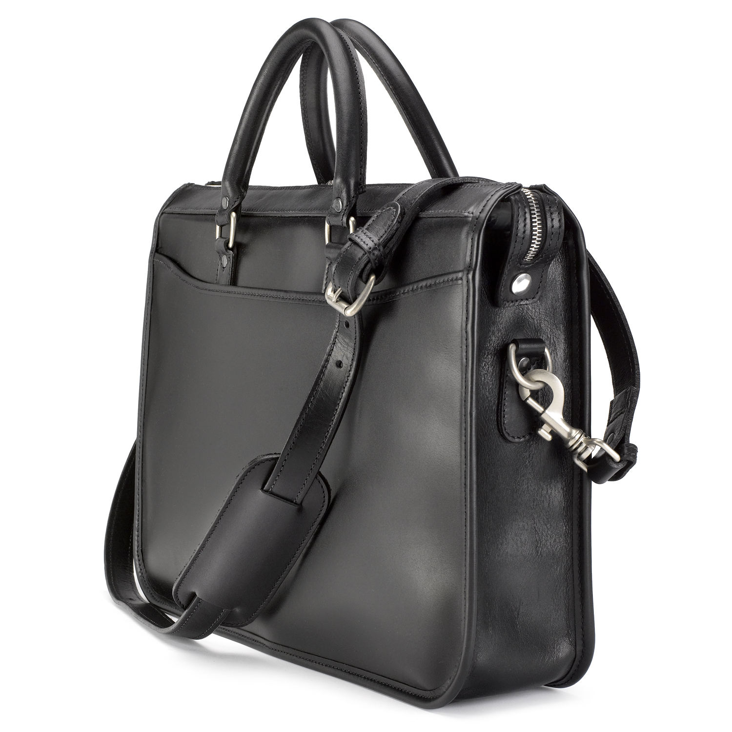 Tusting Marston Leather Briefcase in Black