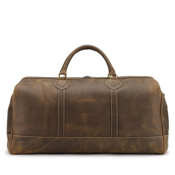 Tusting Weekender Leather Holdall - medium - in Aztec Crazyhorse