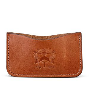 Tusting leather business card holder