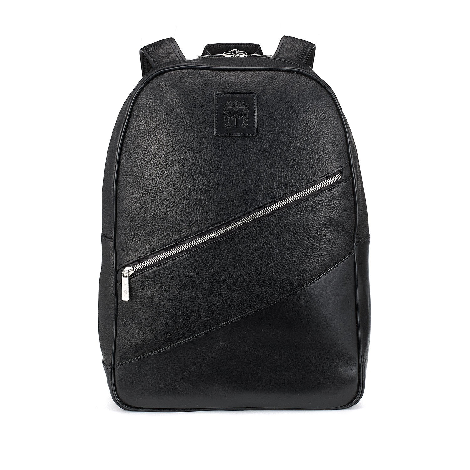 Tusting Black Leather Backpack, the Clifton
