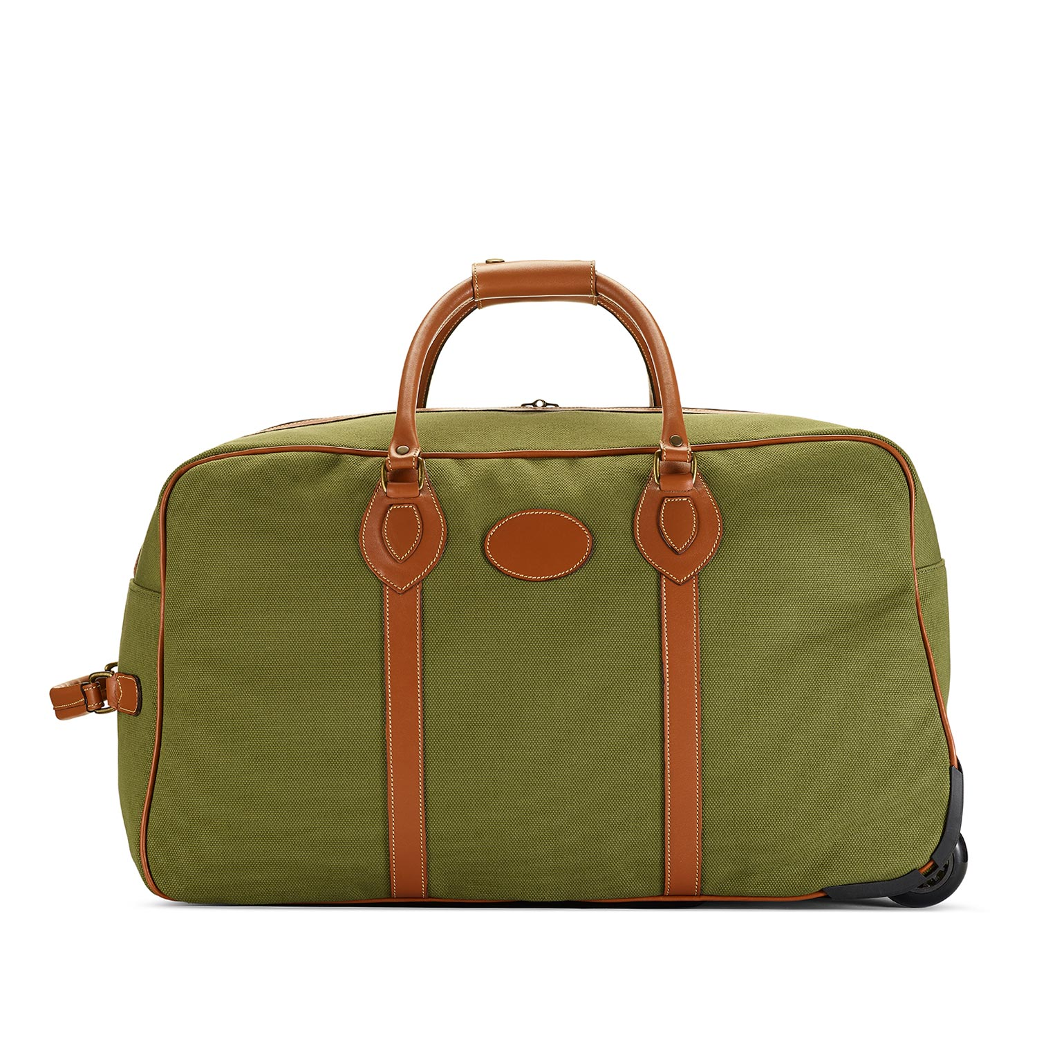 Tusting Grand Tourer Wheeled Holdall (small) in Olive Canvas