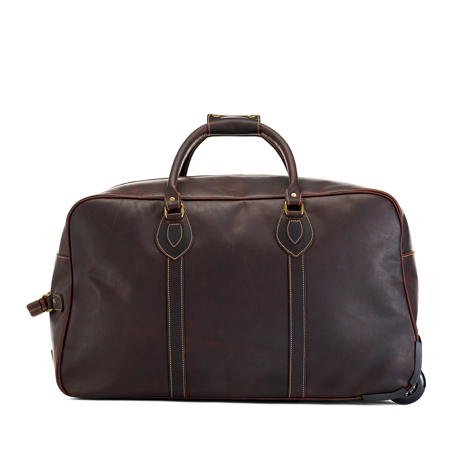 Tusting Grand Tourer Wheeled Holdall (small) in Sundance Floodlight Leather