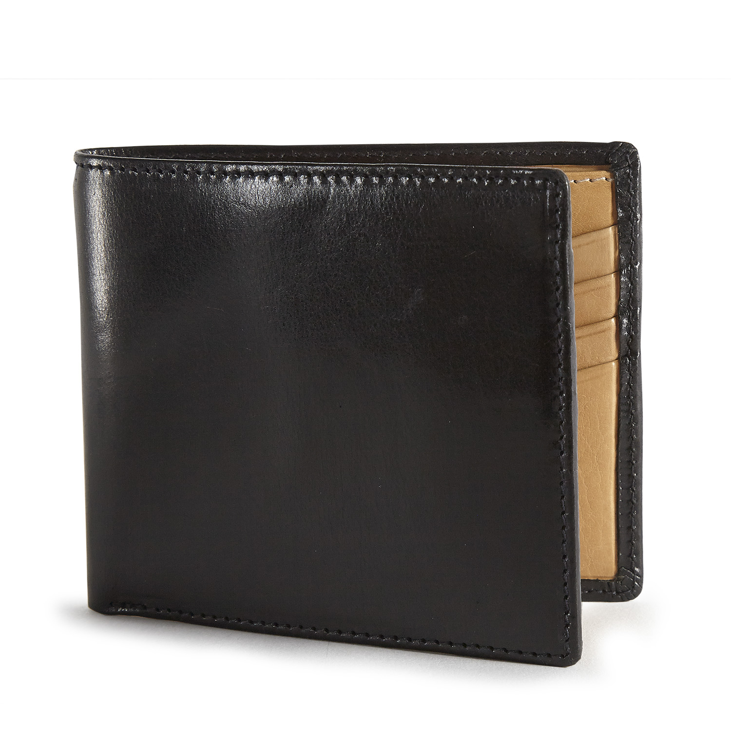 Tusting Black Wallet with Natural Inner