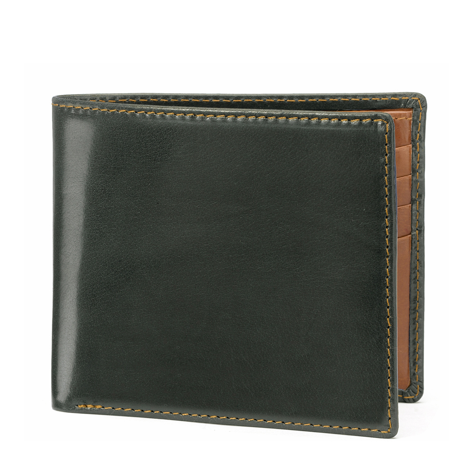 Tusting Green and Tan Leather Wallet